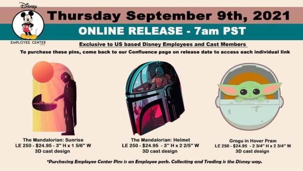 Star Wars The Mandalorian Pin Series at Disney Employee Center