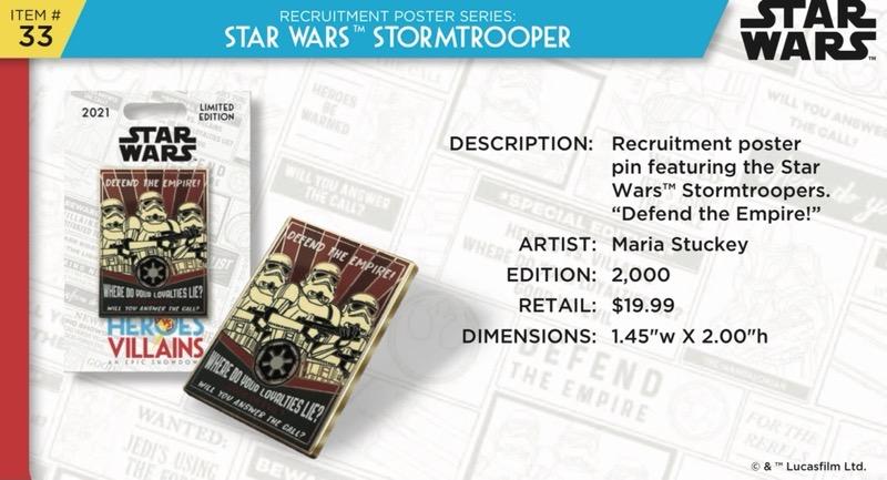 Stormtrooper Pin - Disney Heroes Vs. Villains Event