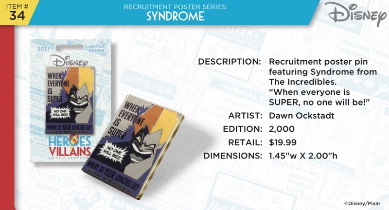 Syndrome Pin - Disney Heroes Vs. Villains Event