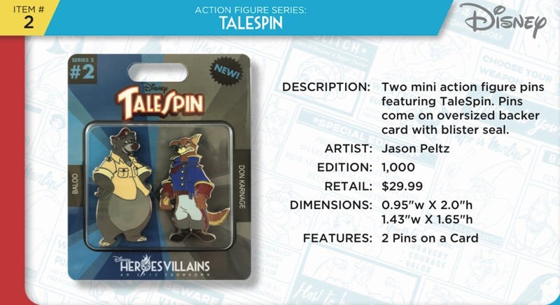 Talespin Action Figure Pins - Heroes Vs. Villains Disney Pin Set