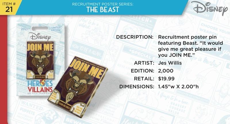 The Beast Pin - Disney Heroes Vs. Villains Event