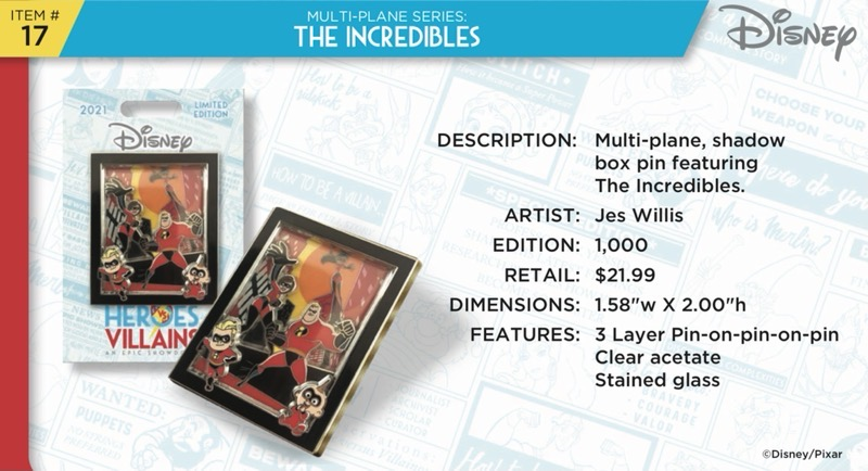 The Incredibles Pin - Disney Heroes Vs. Villains Event