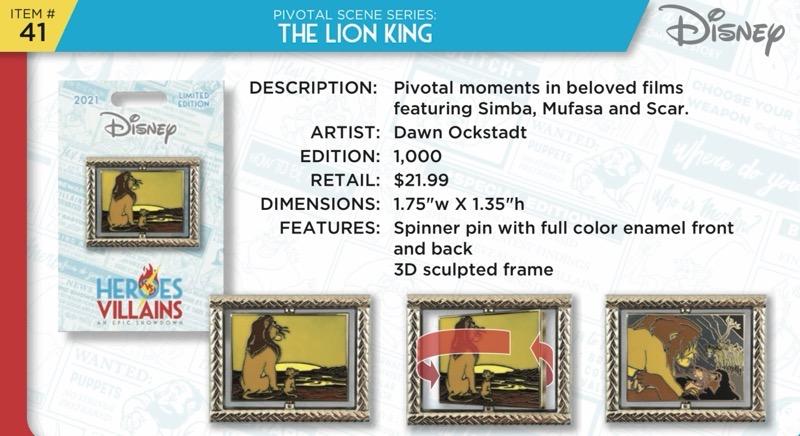 The Lion King Pin - Disney Heroes Vs. Villains Event