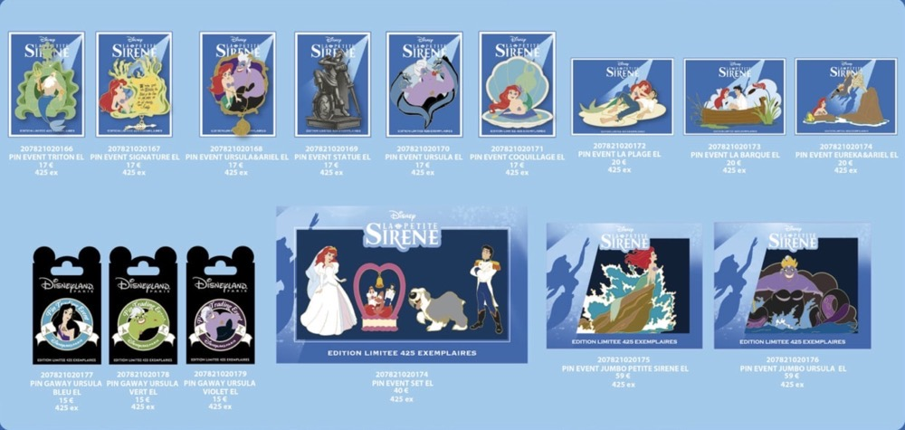 The Little Mermaid La Petite Sirene Disney Pins