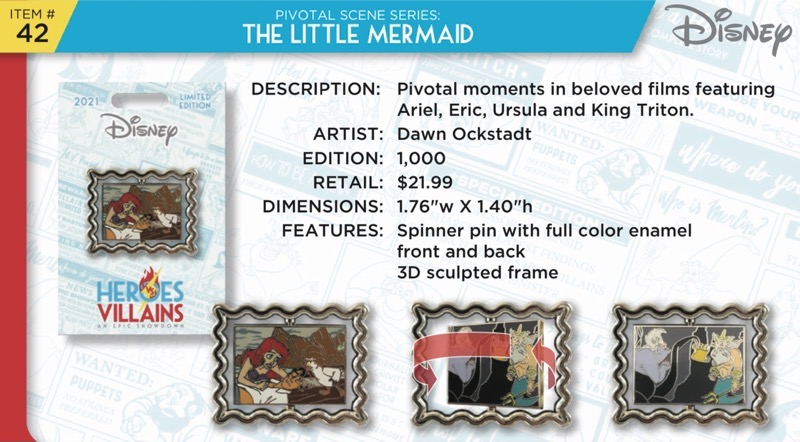 The Little Mermaid Pin - Disney Heroes Vs. Villains Event
