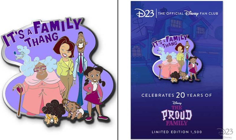 The Proud Family 20th Anniversary D23 Exclusive Pin