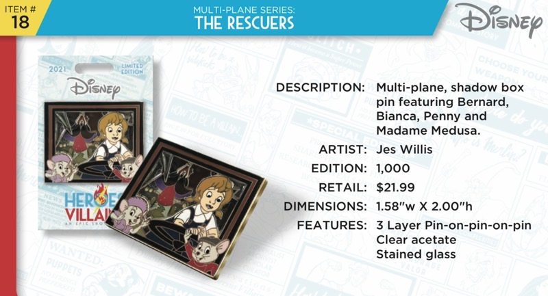 The Rescuers Pin - Disney Heroes Vs. Villains Event