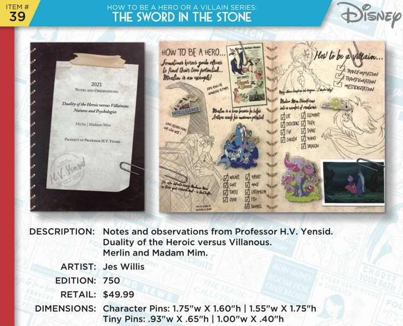 The Sword in the Stone Pin Set - Disney Heroes Vs. Villains Event