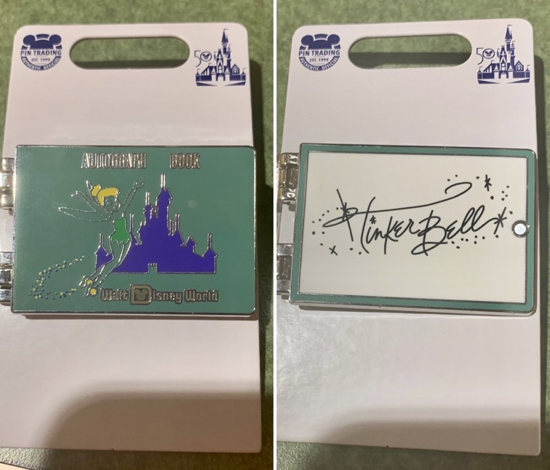 Tinker Bell Autograph Disney Pin - Vault Collection