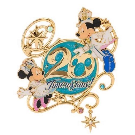 Tokyo DisneySea 20th Anniversary Time to Shine! Pin