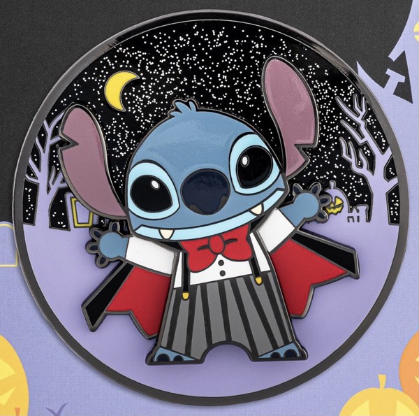 Vampire Stitch LE 1,000 Loungefly Disney Pin