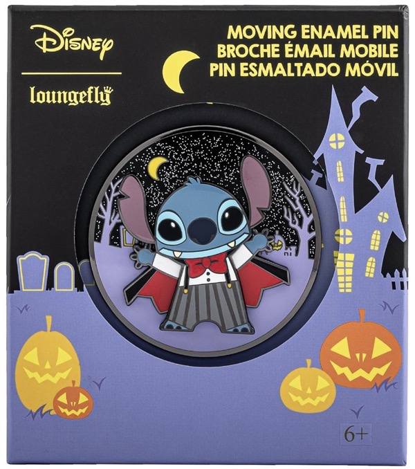 Vampire Stitch Limited Edition Loungefly Disney Pin