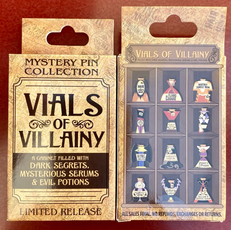 Vials of Villainy Disney Mystery Pin Collection