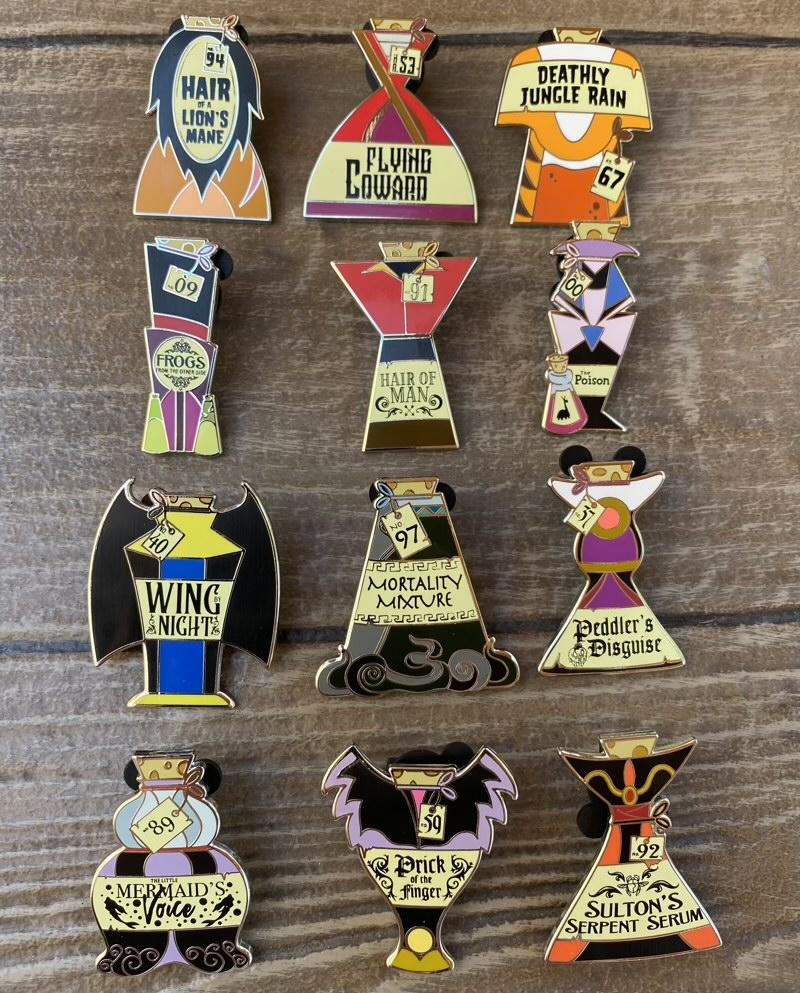 Vials of Villainy Mystery Disney Pins