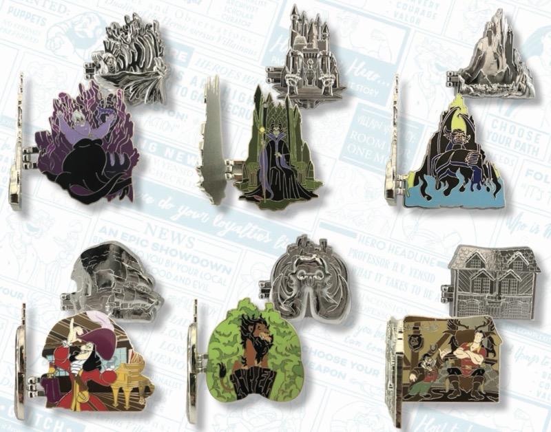 Villains Lairs Pin Set - Disney Heroes Vs. Villains Event