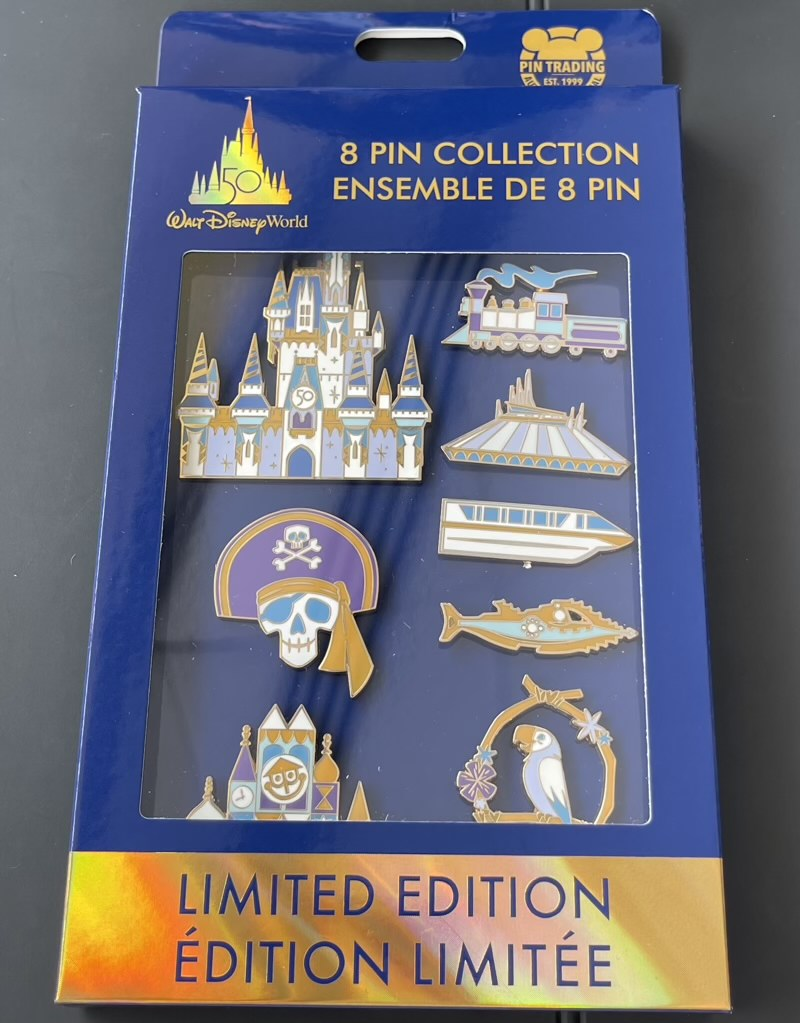 Walt Disney World 50th Anniversary Boxed Pin Set in Package
