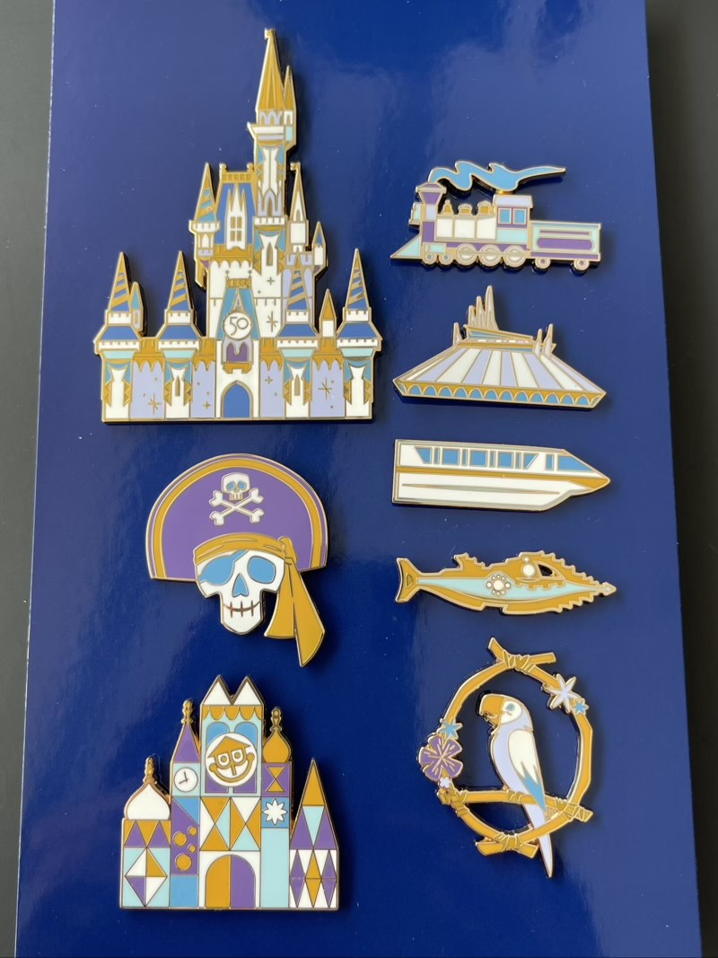 Walt Disney World 50th Anniversary Boxed Pin Set