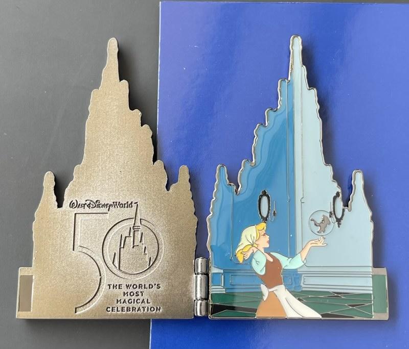 Walt Disney World 50th Anniversary Castle Hinged Pin Opened