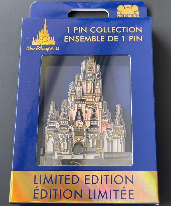 Walt Disney World 50th Anniversary Castle Hinged Pin in Box