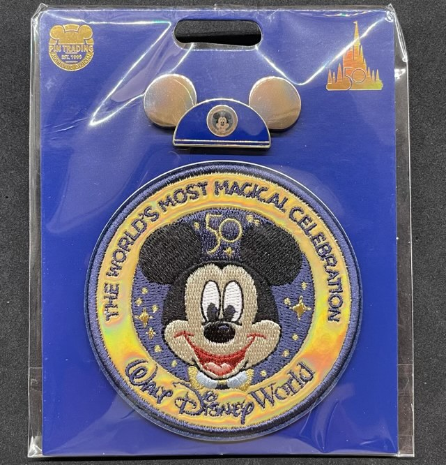 Walt Disney World 50th Anniversary EARidescent Pin & Patch Set