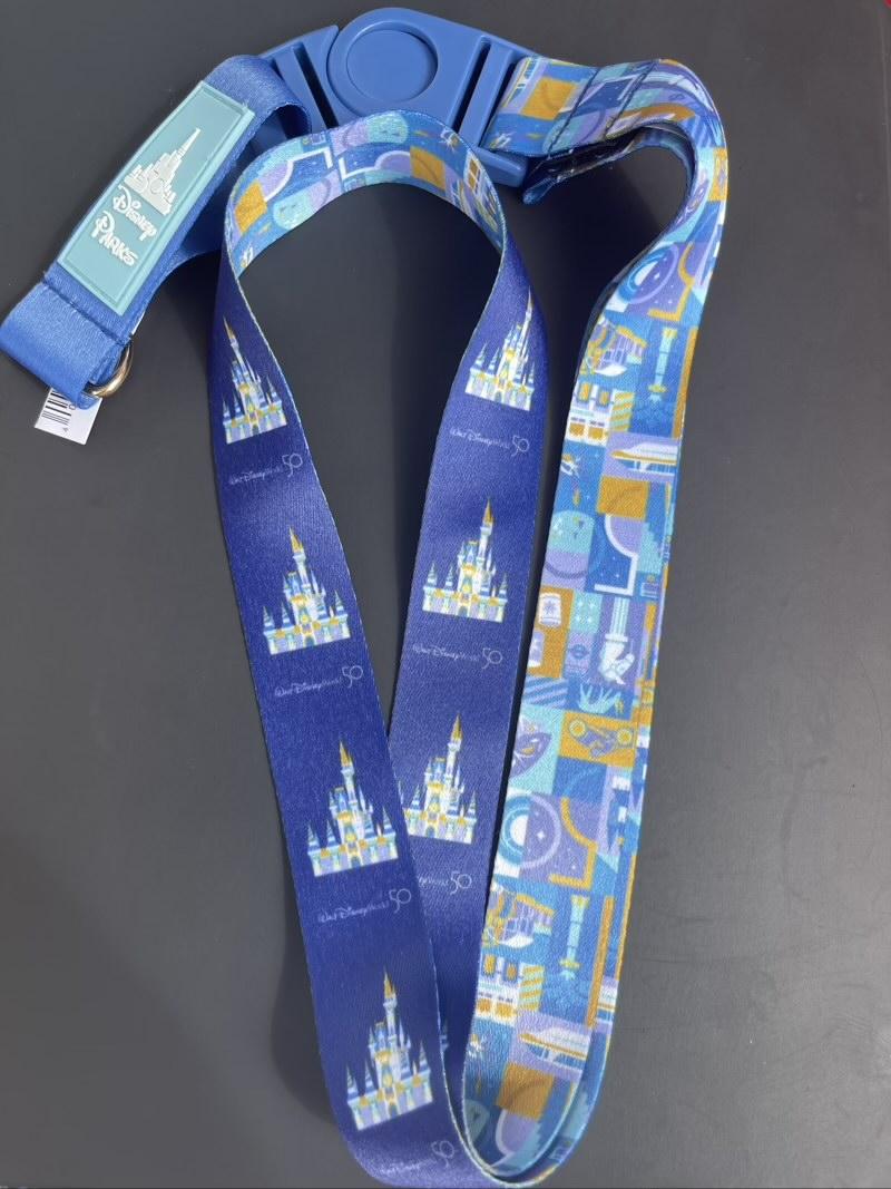 Walt Disney World 50th Anniversary Pin Trading Lanyard