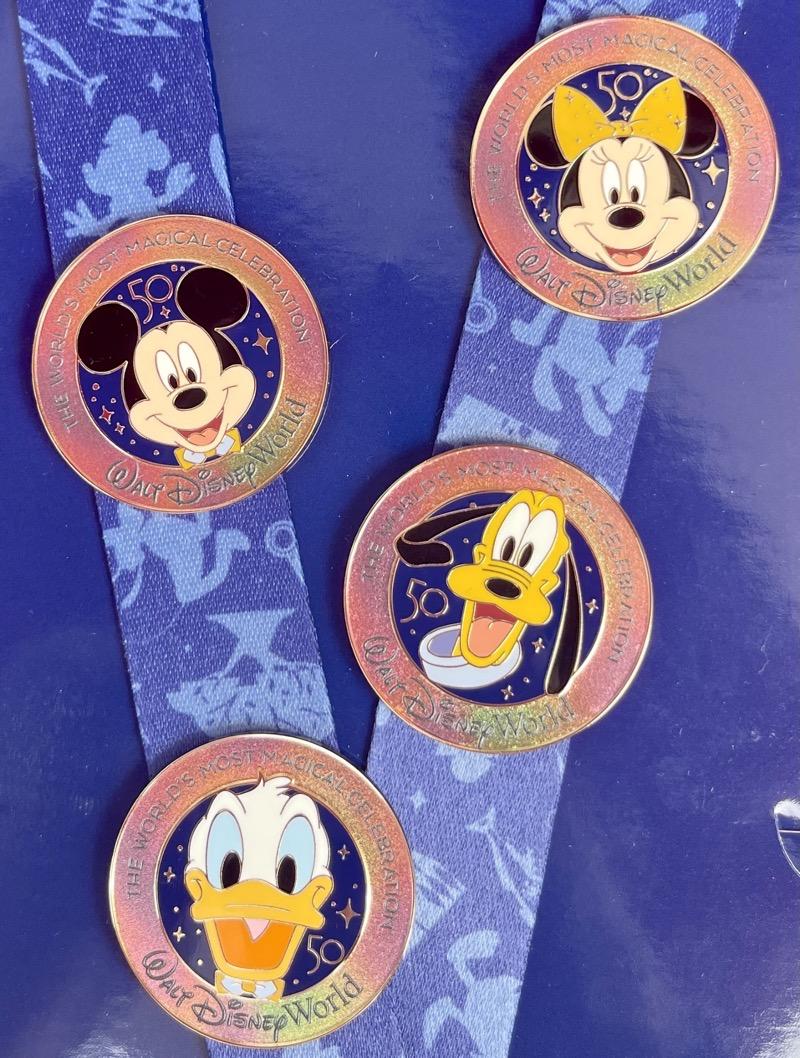 Walt Disney World 50th Anniversary Pin Trading Starter Set Pins