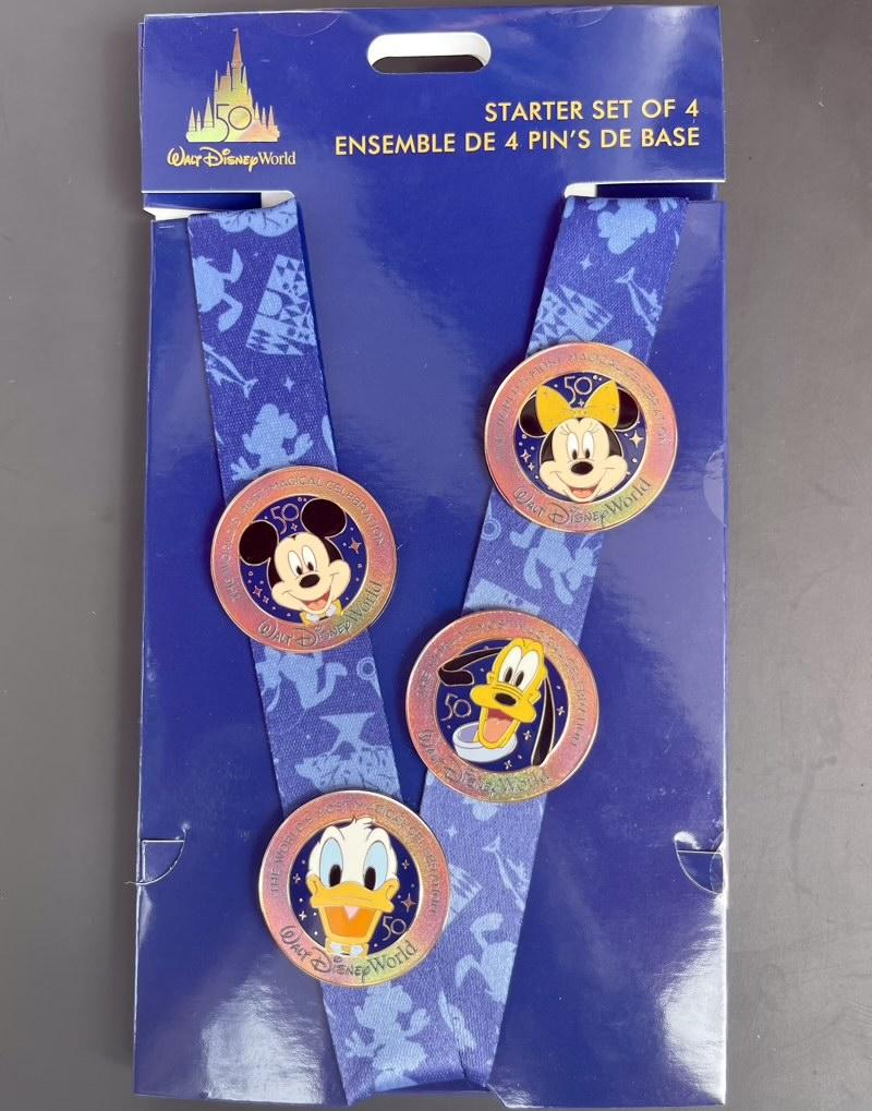 Walt Disney World 50th Anniversary Pin Trading Starter Set