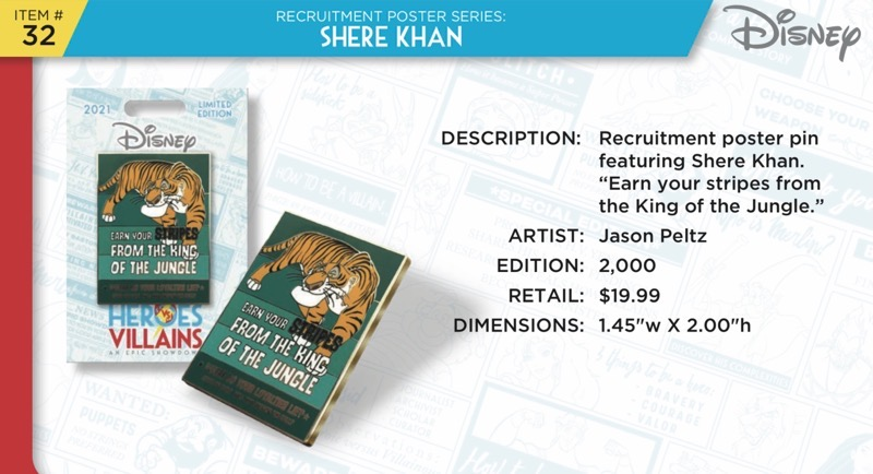 Shere Khan Pin - Disney Heroes Vs. Villains Event
