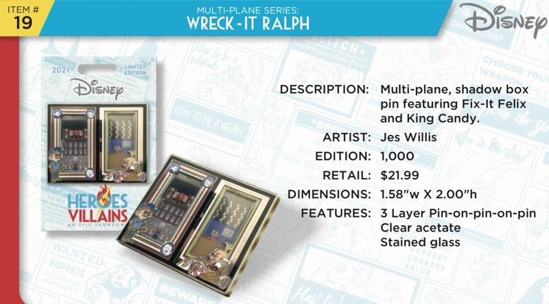 Wreck-It Ralph Pin - Disney Heroes Vs. Villains Event