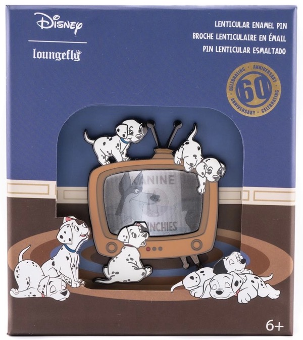 101 Dalmatians 60th Anniversary Limited Edition Loungefly Disney Pin