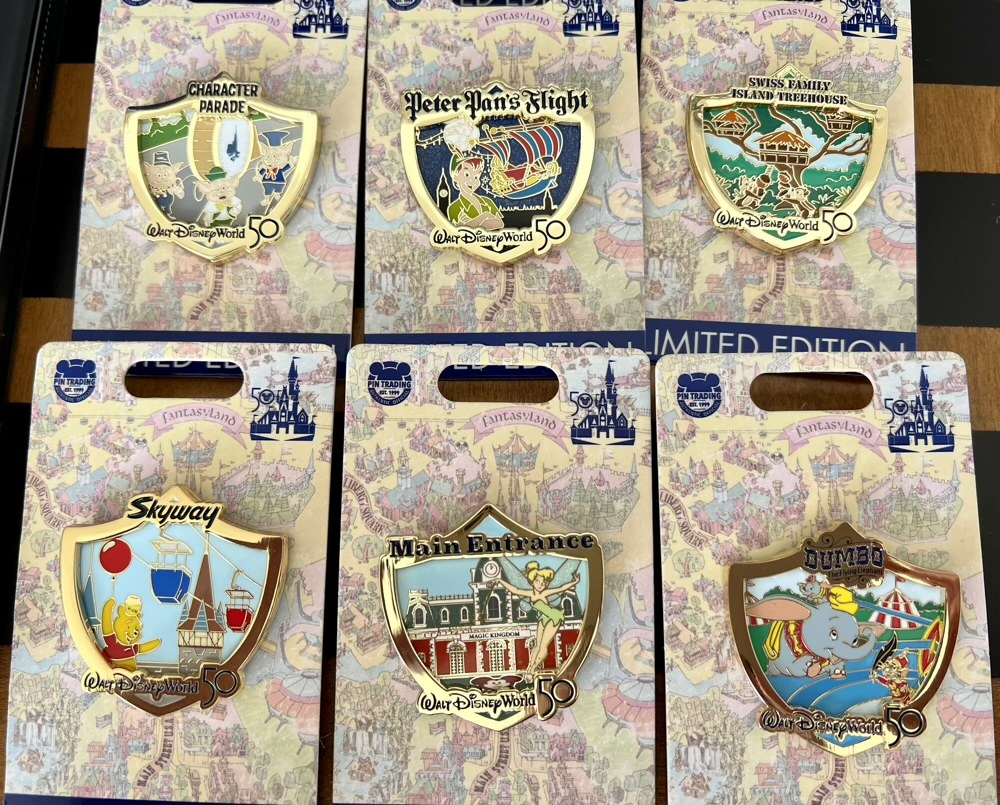 Attraction Crests Walt Disney World 50th Anniversary Pins 1