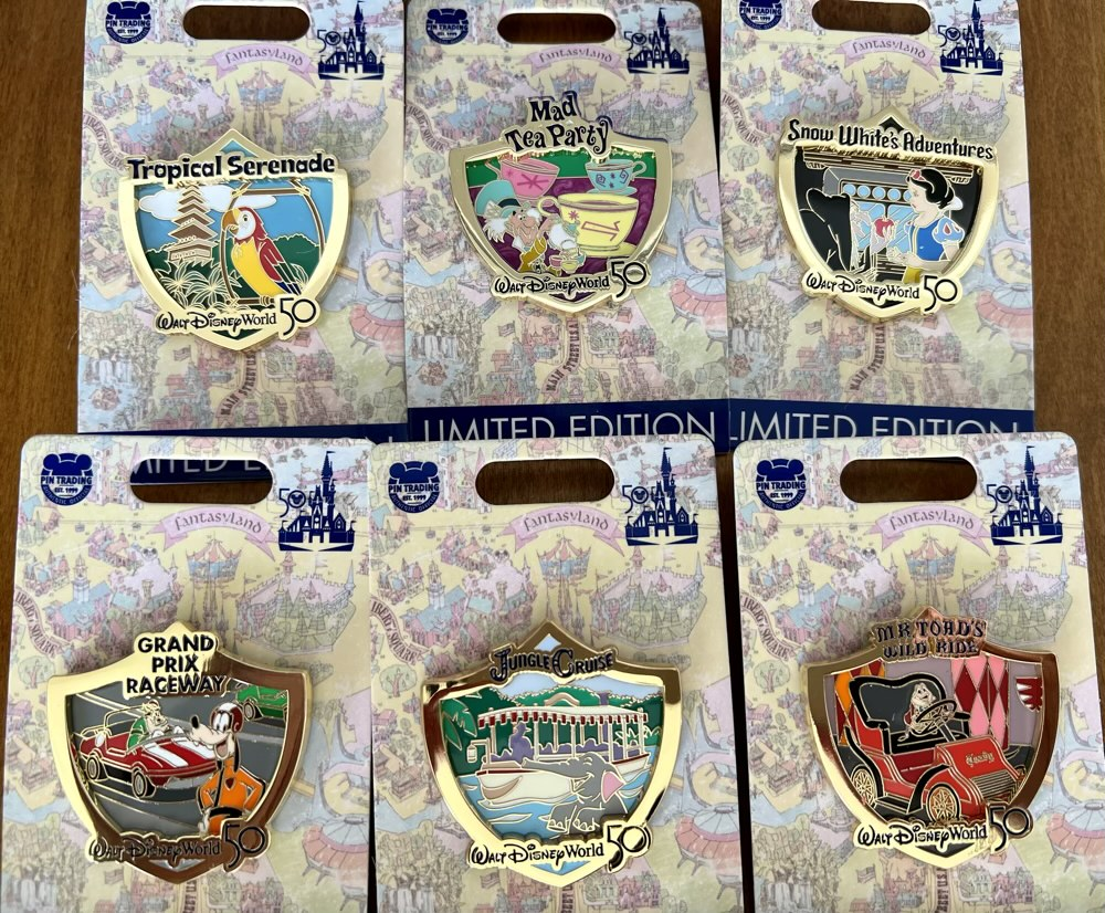 Attraction Crests Walt Disney World 50th Anniversary Pins 2