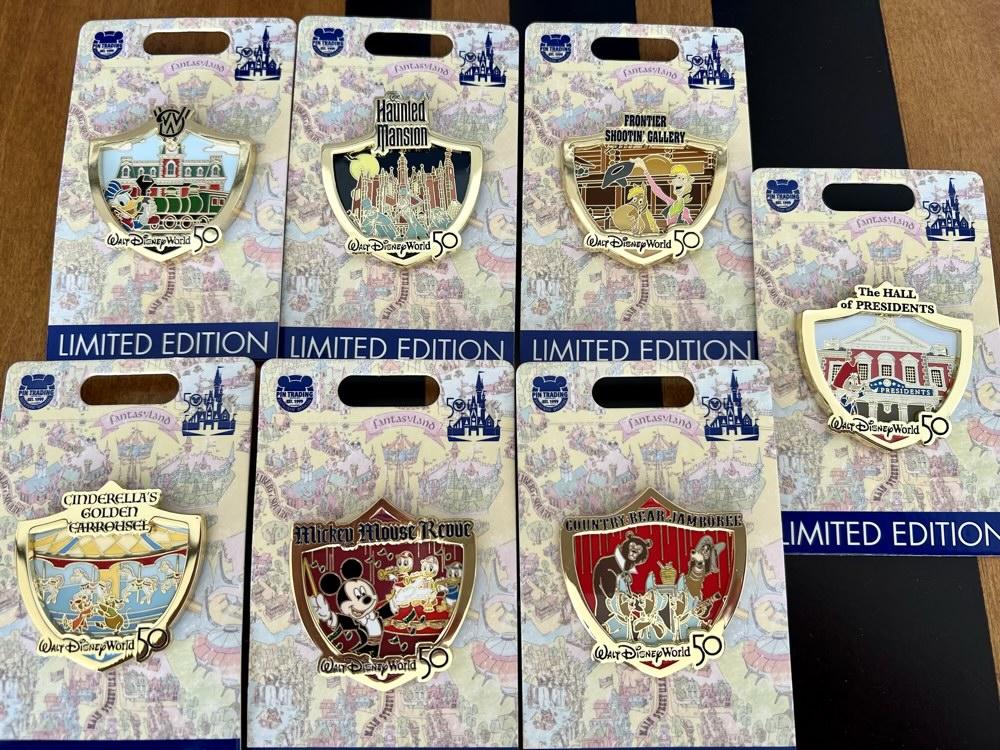 Attraction Crests Walt Disney World 50th Anniversary Pins 3