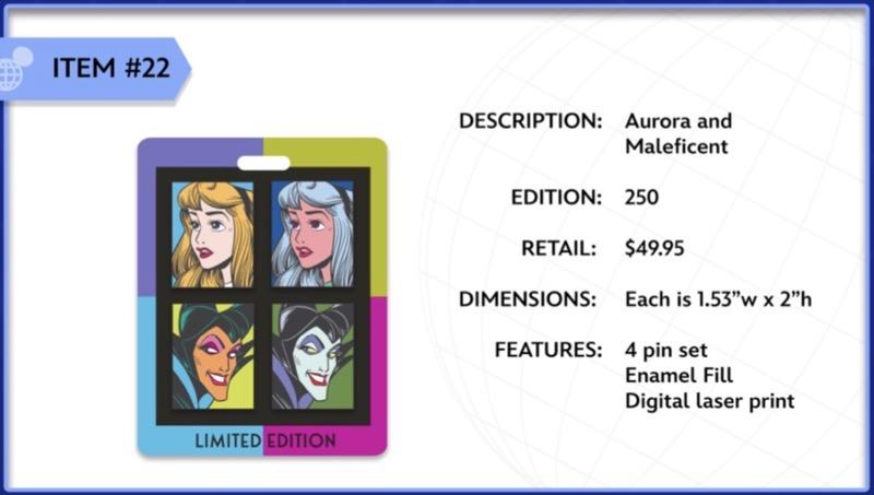 Aurora and Maleficent WDI Pin Set