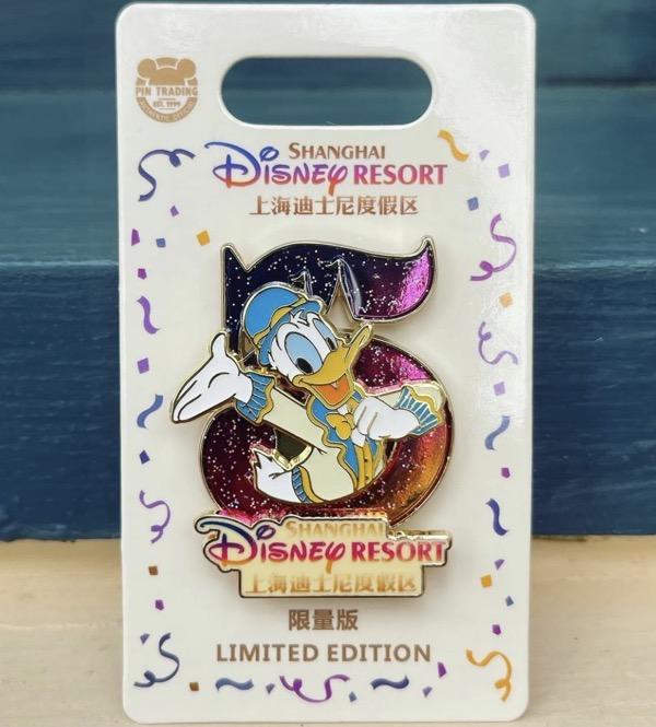 Donald Duck Shanghai Disney Resort 5th Anniversary Pin