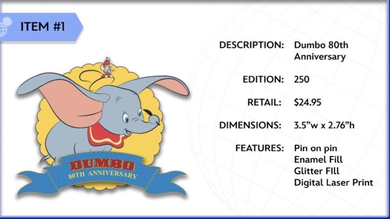 Dumbo 80th Anniversary WDI Pin