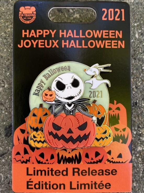 Happy Halloween 2021 Disney Pin