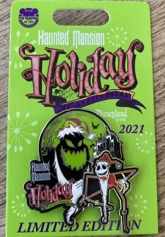 Haunted Mansion Holiday 20th Anniversary Disney Pin