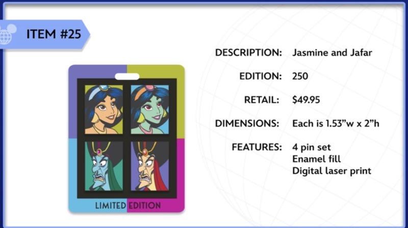 Jasmine and Jafar WDI Pin Set
