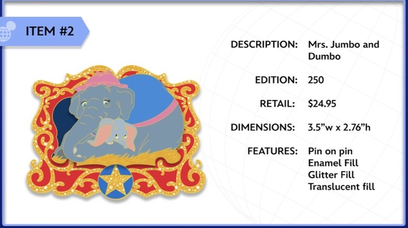 Mrs. Jumbo and Dumbo WDI Pin