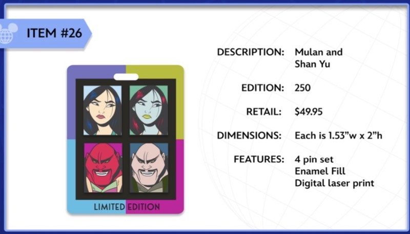 Mulan and Shan Yu WDI Pin Set