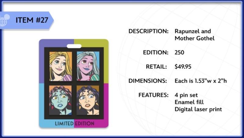 Rapunzel and Mother Gothel WDI Pin Set