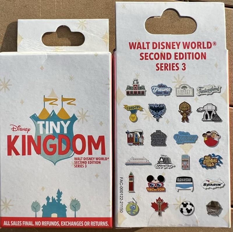 Tiny Kingdom Walt Disney World Second Edition Series 3 Pin Collection