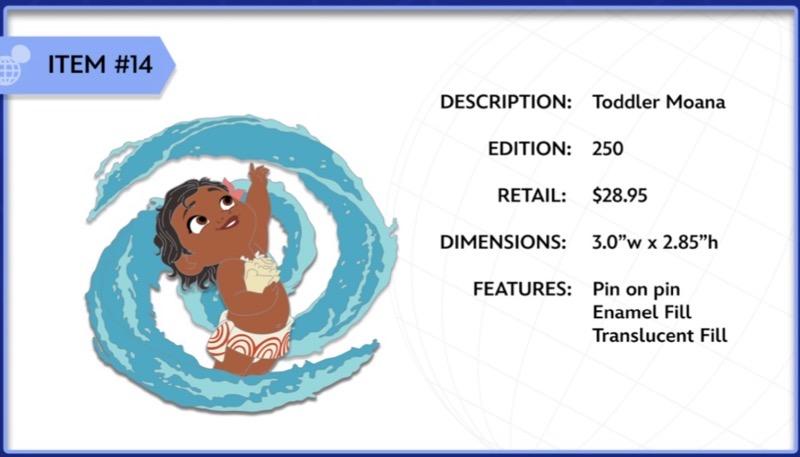 Toddler Moana WDI Pin