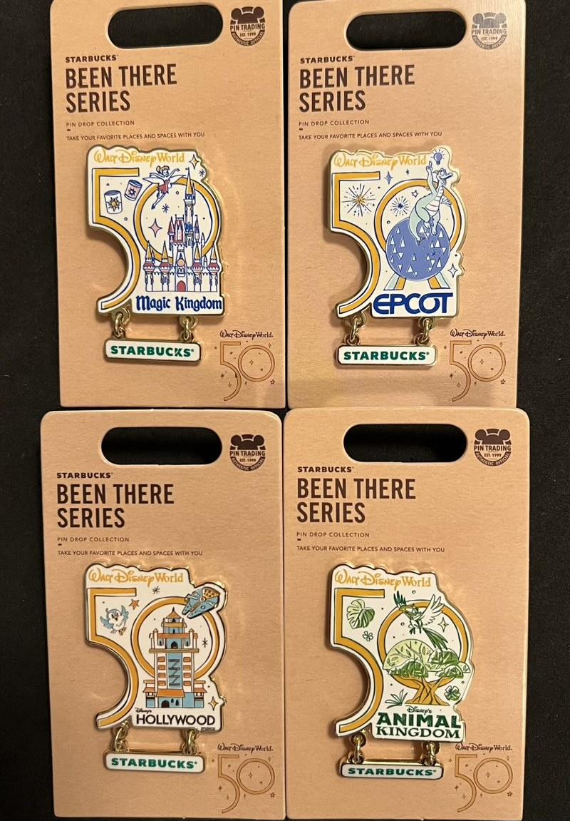 Walt Disney World Starbucks Been There Pins